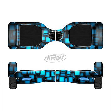 The Neon Blue Abstract Cubes Full-Body Skin Set for the Smart Drifting SuperCharged iiRov HoverBoard