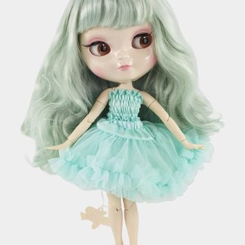[ PRE ORDER *] ANGELA Doll LIGHT TURQUOISE/ TIFFANY GREEN incl. Dolly Fashion & Doll Carrier bag