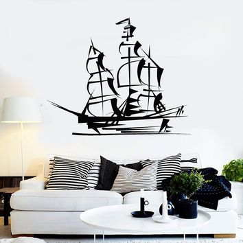 Vinyl Wall Decal Ship Yacht Marine Nautical Art Children Room Stickers Unique Gift (ig3757)