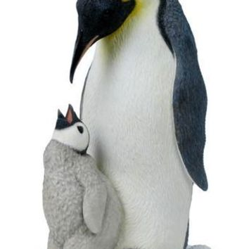 Penguin With Baby Penguin Statue - 8389
