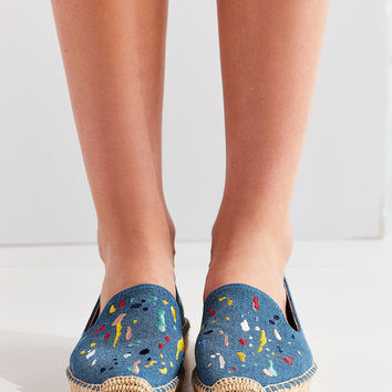 Soludos Splatter Paint Platform Smoking Slipper | Urban Outfitters