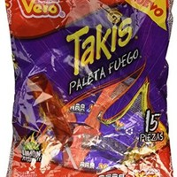 Takis Paleta Fuego Chamoy Enchilada Mexican Candy Hot Chili Lollipops 15 Pcs