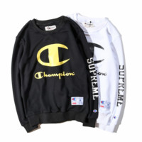 Teh New Autumn Winter Unisex Casual Loose Champion Print Hoodies Pullover Sweater