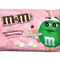 M&M's Strawberry Shortcake White Chocolate Candy 8.0 Oz 2016 LIMITED EDITION
