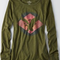 AEO Women's Southwestern Graphic T-shirt (Green)