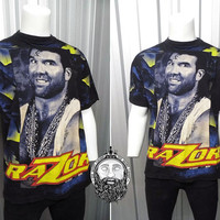 Rare Vintage 1994 Razor Ramon T-shirt WWF Wrestling wcw Scott Hall NWO 90s Clothing WWE Wrestling Tshirt All Over Print Official Merchandise