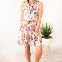 Spring Air Sleeveless Floral Dress