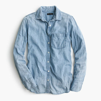 J.Crew Womens Tall Always Chambray Shirt