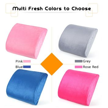 Anself Back Support Cushion Memory Foam Pillow Ergonomic Lower Back Pain Cushion for Office Chair Seat Washable Lint