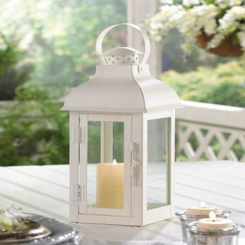Terrace Medium White Lantern