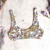 kylie sporty swim top - 60's floral