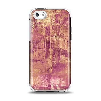 The Pink Paint Splattered Brick Wall Apple iPhone 5c Otterbox Symmetry Case Skin Set
