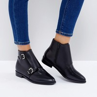 ASOS ANNETTE Leather Ankle Boots at asos.com