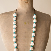 J.Forks Chunk Agate & Turquoise Necklace