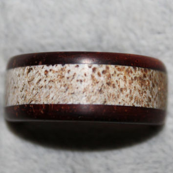 Wood Ring, Cocobla and Elk Antler
