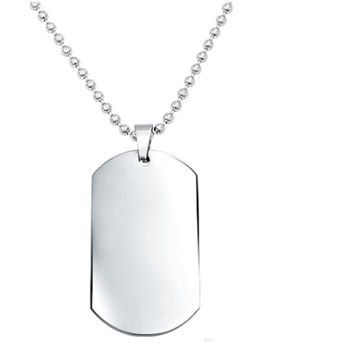 Stainless Steel Dog Tags Chain Pendant Necklace For Men