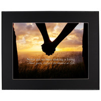Make a Life Inspirational Quote Framed Wall Art w- Black Mat