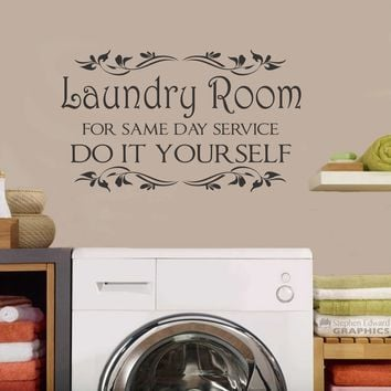 Laundry Same Day Service | Vinyl Decals | Wall Lettering