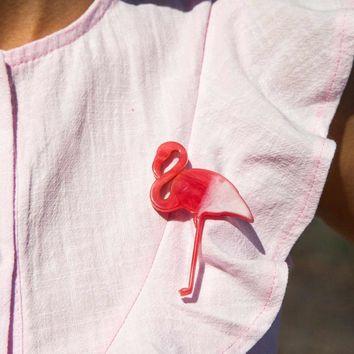 Brooch Pins Pink Flamingo Brooches for women love cute gift Enamel lapel pin Broche Broches 2018 fashion jewelry accessories