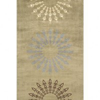 Momeni New Wave 107 Sage Contemporary Wool Rug - 039425134519 - Green Rugs - Area Rugs by Color - Area Rugs
