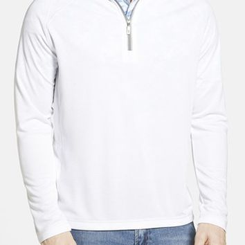 Men's Tommy Bahama 'Firewall - Paradise Tech Collection' Moisture Wicking Raglan Half Zip Sweatshirt,