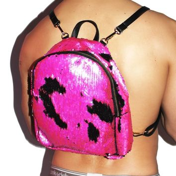 Mermaid Sequin Backpack- Pink