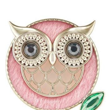 Bath Body Works Scentportable Holder PINK WINTER OWL Visor Clip
