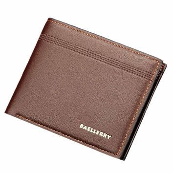 Mens Leather ID Card Holder Billfold Purse Wallet Handbag wallets purse mens leather genuine wallet pocket men clutch bags