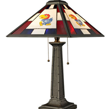 University of Kansas Glass Table Lamp