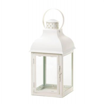 Terrace Large White Lantern