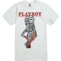 Junk Food Playboy Cover T-Shirt - Mens Tee - White