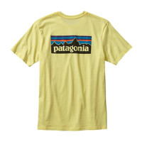 Patagonia Men's P-6 Logo Cotton T-Shirt- Lite Blazing Yellow