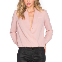 Lovers + Friends x REVOLVE Get Down Blouse in Blush