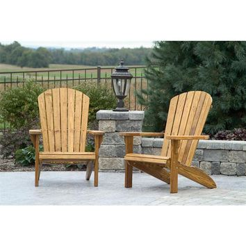 Leisure Lawns Amish Made Yellow Pine Fan-Back Chair Model #360 - Ships FREE within 2 to 3 Weeks