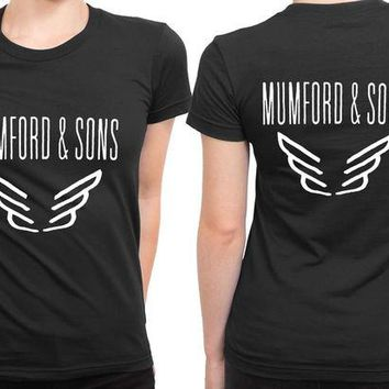 VONEED6 Mumford And Sons Logo Band Tour 2 Sided Womens T Shirt