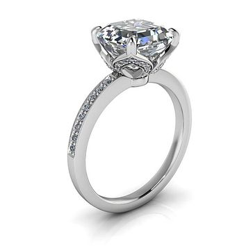 Final Payment Custom Engagement Ring Diamond Setting Cushion Cut Moissanite Center - Manila
