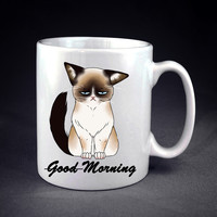 Good Morning Cat ! Personalized mug/cup