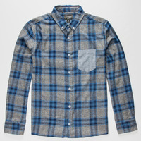 Retrofit Check It Mens Flannel Shirt Navy  In Sizes