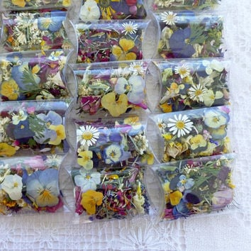 Confetti, Wedding Flowers,Wedding Confetti, Bridal Party, Gift, Dried Flowers, Potpourri, Pillow Box, Favor,Tossing Flowers, Item # 0085