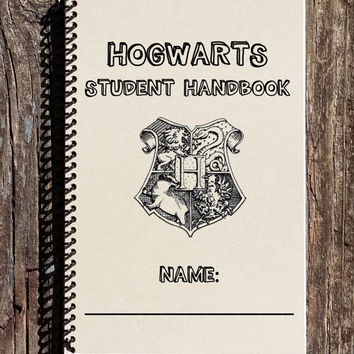 Harry Potter Inspired Notebook - Harry Potter Inspired - Hogwarts Student Handbook - Hogwarts Crest -Harry Potter Journal