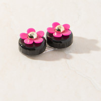 Daisy Black & Pink Contact Lens Case
