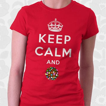 Keep Calm and Crush - Candy Crush Shirt. 100% Cotton. Mens, womens and kids sizes. A keep calm candy crush t-shirt for all the addicts.
