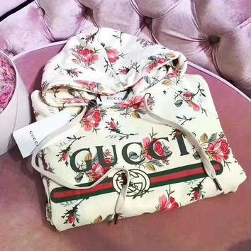 DCCKBA7 'Gucci'' Women Pattern Print Floral Hot Hoodie Cute Sweater