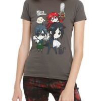 Black Butler Chibi Group Girls T-Shirt