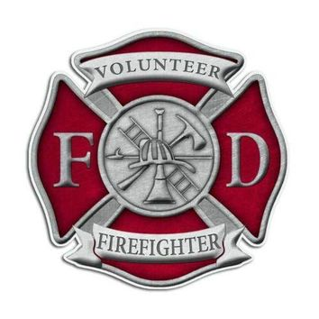 Volunteer Firefighter Maltese Cross Sticker
