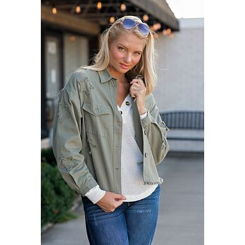 Always Working It Utility Jacket : Olive Green