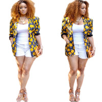 Dot Printed Yellow Blazer