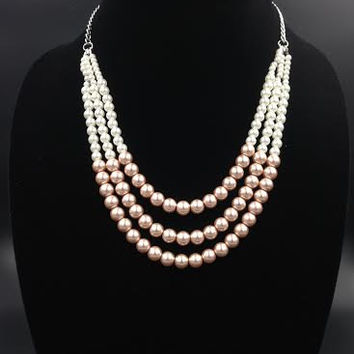 Queen Victoria - Blush and Pearl Necklace