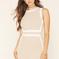 Contrast Bodycon Dress