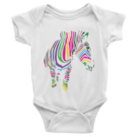 Zebra Art Infant short sleeve Onesuit
